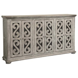 Relaxed Vintage Solid Wood 6-Door Console