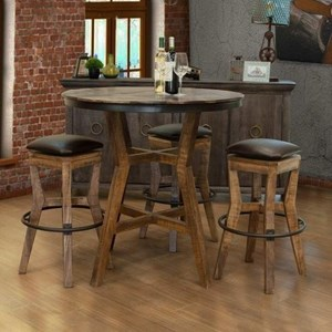 Rustic Pub Table Dining Set
