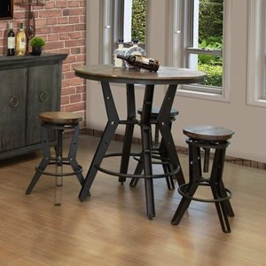 Industrial Pub Table Dining Set