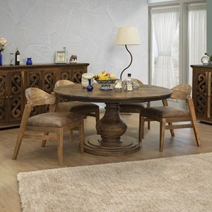 Rustic Solid Wood 5-Piece Dining Set