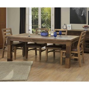 Rustic 5-Piece Table and Chair Set