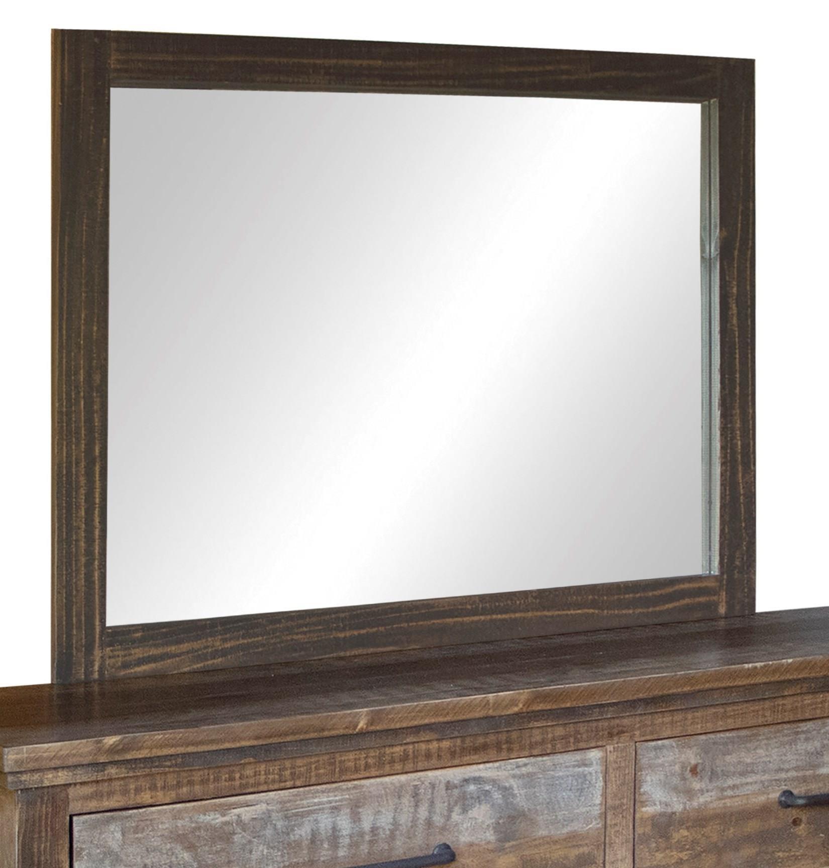 Santa Clara Mirror by International Furniture Direct at Furniture Barn