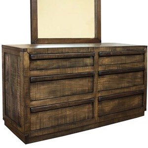 Contemporary 6-Drawer Dresser with Microfiber-Lined Top Drawers