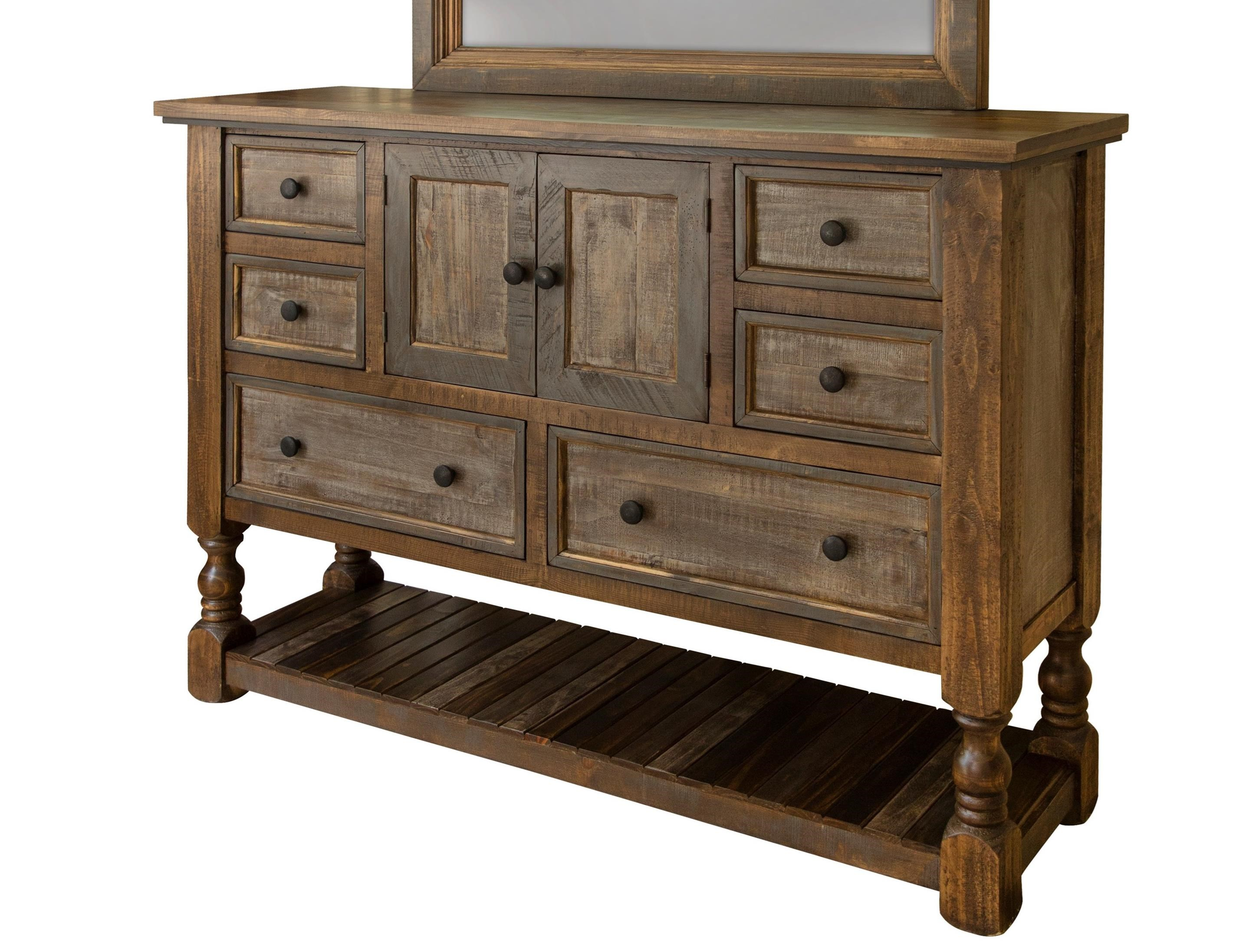 Stone Brown Dresser by International Furniture Direct at Zak's Home