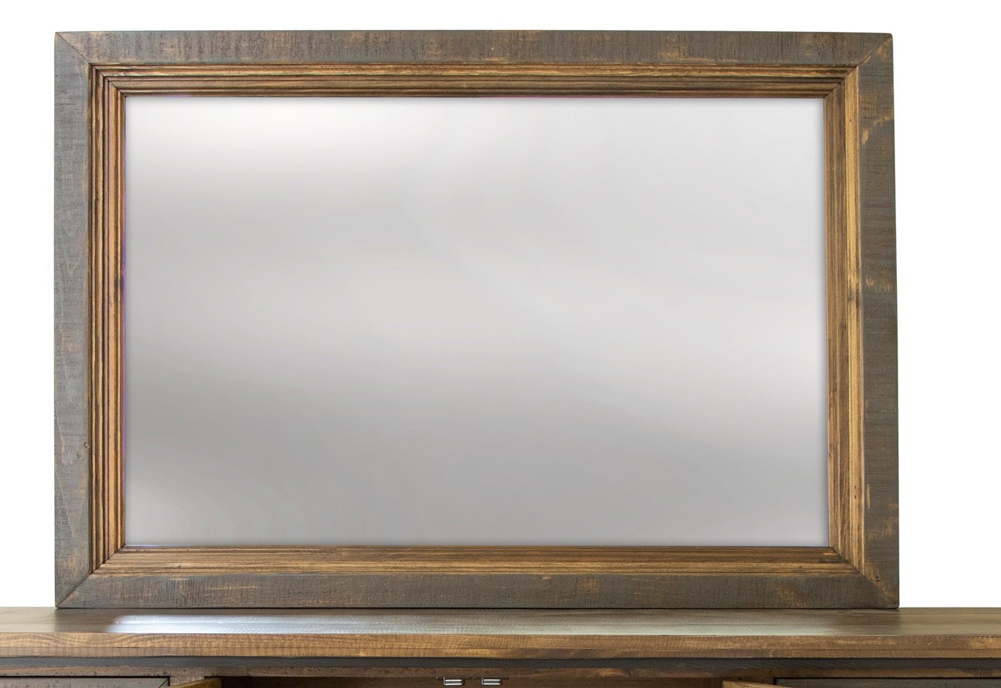 Stone Brown Mirror by International Furniture Direct at Zak's Home