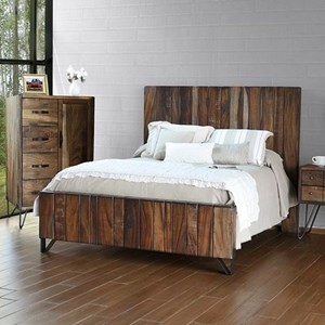 Rustic Queen Platform Bed