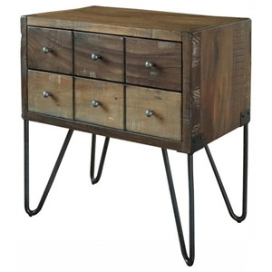 Rustic Two Drawer Nightstand
