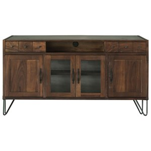 """Rustic 70"""" TV Stand with 2 Drawers and 4 Doors"""