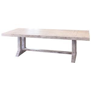 Rectangular Terra White Dining Room Table and 6 Terra Slat Back Side Chairs Set