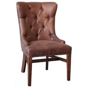 Upholstered Side Chair with Button Tufting