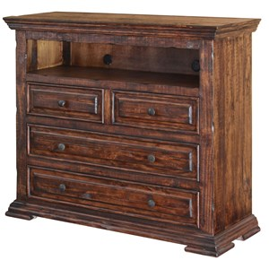 Solid Wood 4 Drawer Media Chest