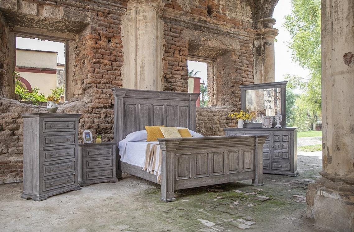Terra Gray King Bedroom Group by International Furniture Direct at Zak's Home
