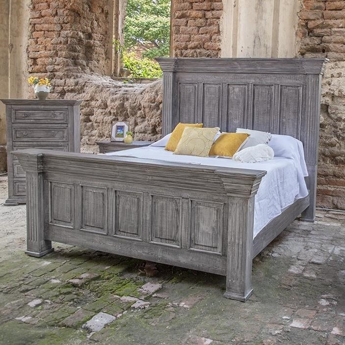 Terra Gray Queen Panel Bed by International Furniture Direct at Zak's Home