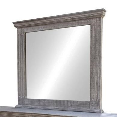 Terra Gray Mirror by International Furniture Direct at Zak's Home