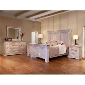 Terra White Queen Bed