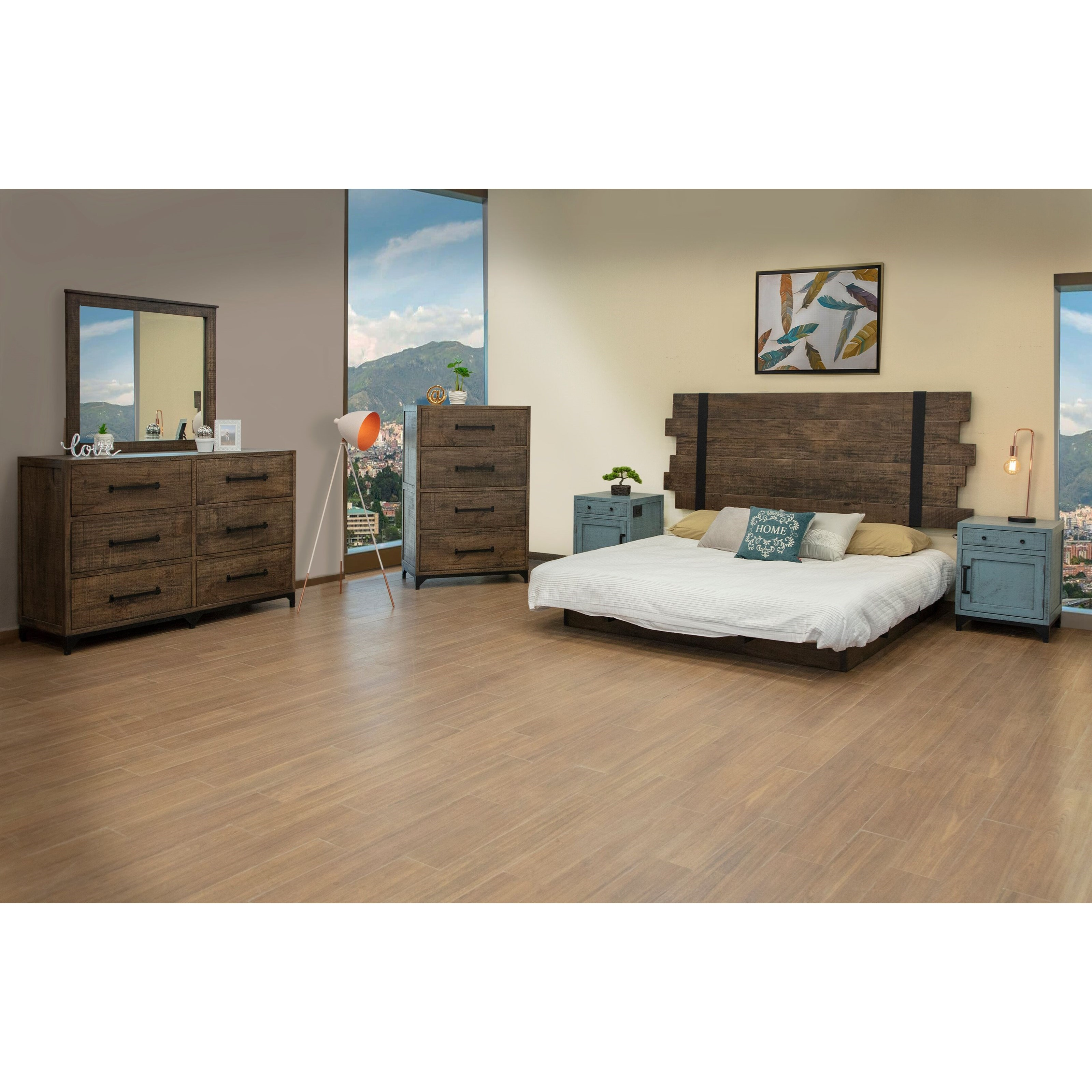 Urban Art King Bedroom Group by International Furniture Direct at Catalog Outlet