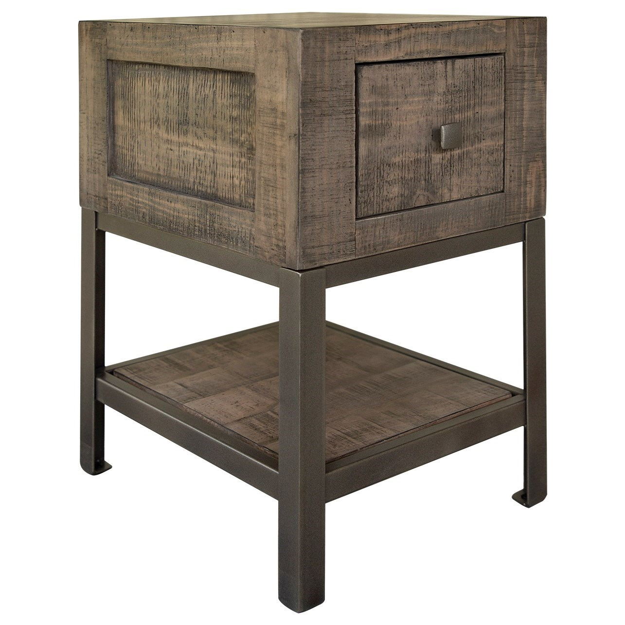 Urban Gray Chairside Table by International Furniture Direct at Darvin Furniture