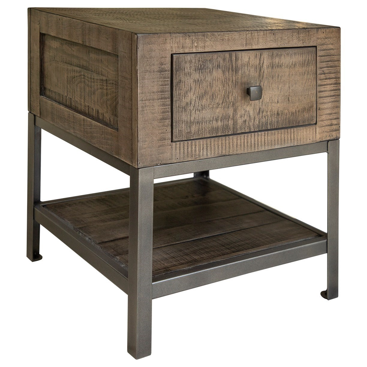 Urban Gray End Table by International Furniture Direct at Darvin Furniture