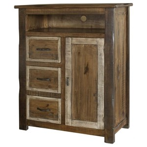 Rustic 3-Drawer, 1-Door Great Chest for TV