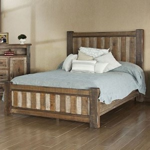 Rustic Queen Low-Profile Bed