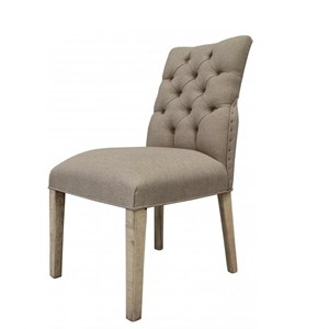 Transitional Upholstered Tufted Side Chair