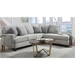 2PC Sectional Chaise Sofa