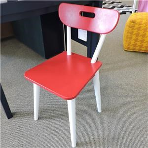 Desk Chair White/Red