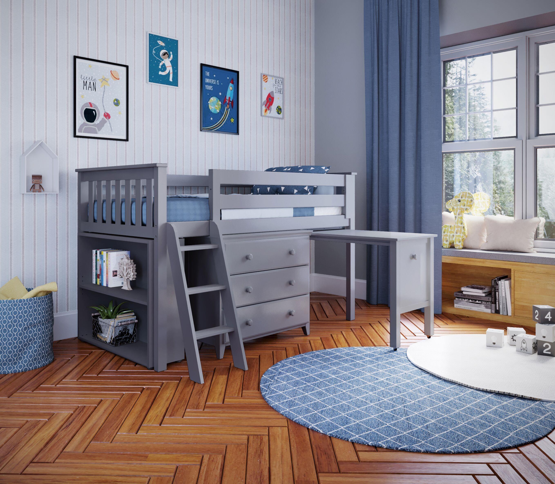 Loft Beds Windsor 2 Low Loft Bed in Grey by Jackpot Kids at Belfort Furniture