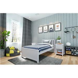 Dublin Twin Single Bed in White