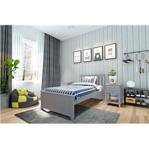 Dublin Twin Single Bed in Grey