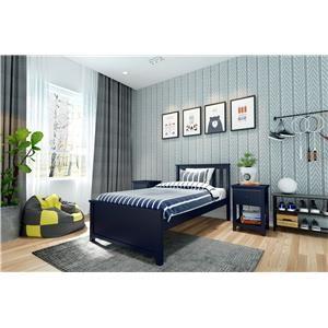Dublin Twin Single Bed in Blue