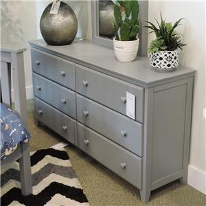 6 Drawer Dresser in Grey