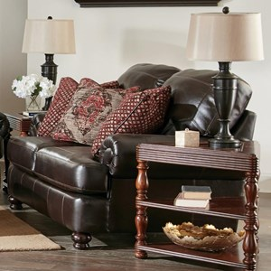 Love Seat with Rolled Arms