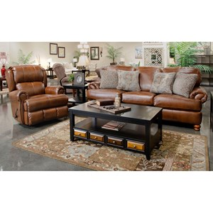 Stationary Sofa and Glider Recliner Set