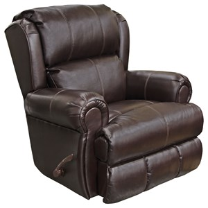 Glider Recliner with Rolled Arms