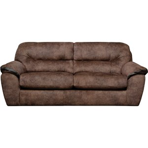 Two Cushion Queen Sleeper Sofa with Pillow Arms