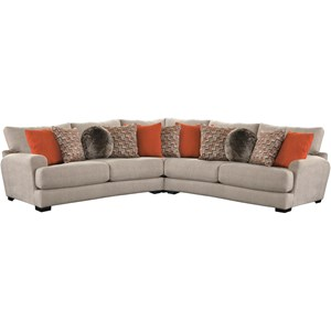 Sectional Sofa with 4 Seats & USB Ports