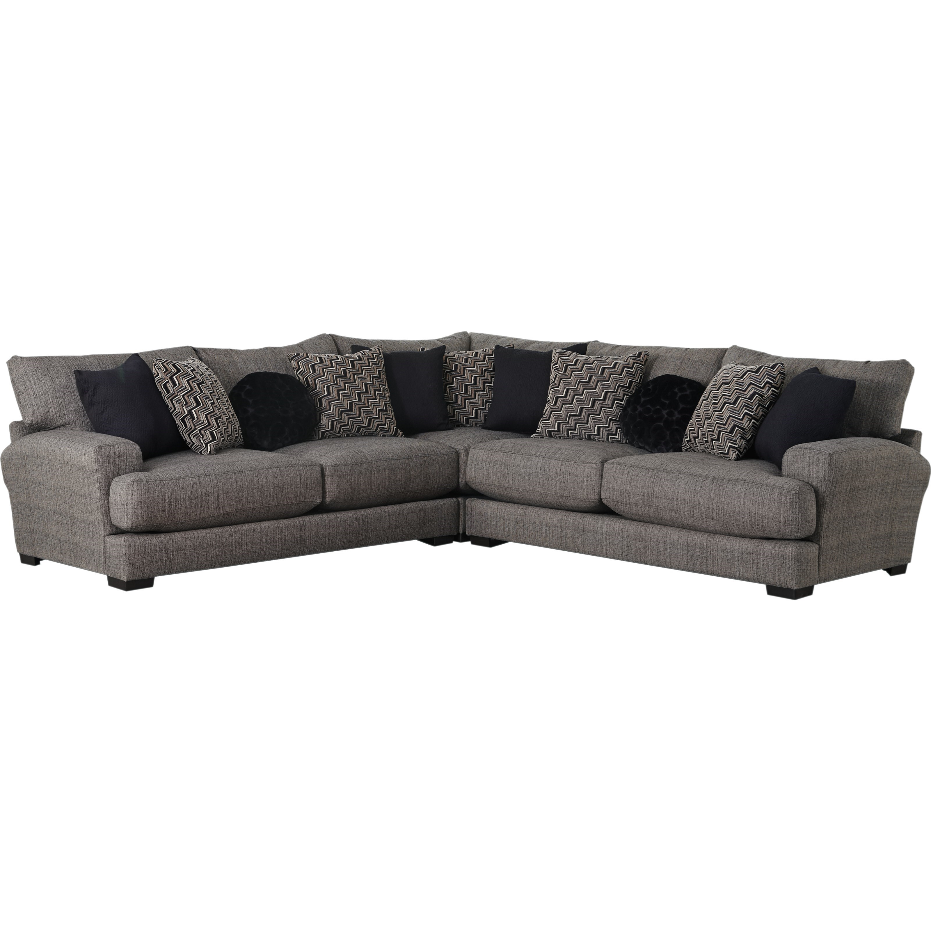 Ava Sectional Sofa with 4 Seats & USB Ports by Jackson Furniture at Northeast Factory Direct