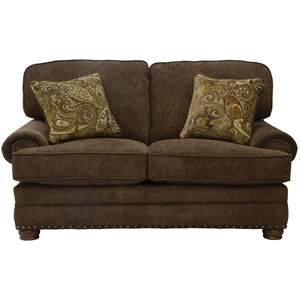 Loveseat with Individually Driven Nail Heads