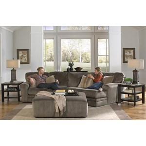 2 Piece Sectional with Piano Wedge