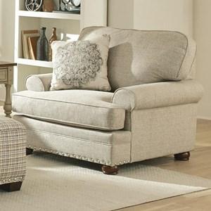 Farmhouse Chair with Nailhead Trim