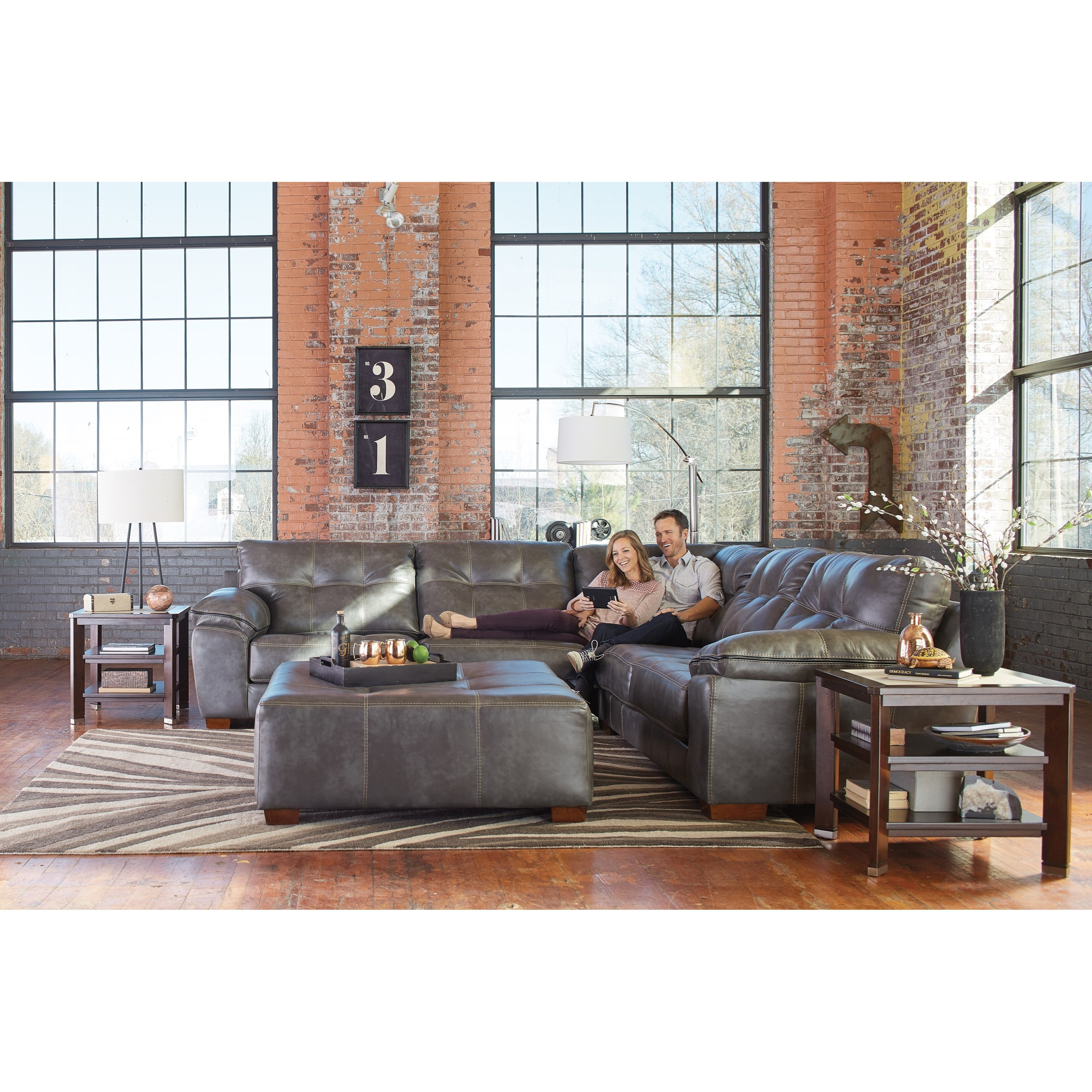 Hudson Stationary Living Room Group by Jackson Furniture at Northeast Factory Direct