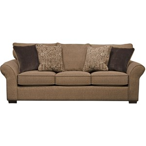 Transitional Sofa with Sock Arms