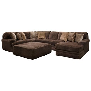 Four Piece Sectional with Chaise and Track Arms