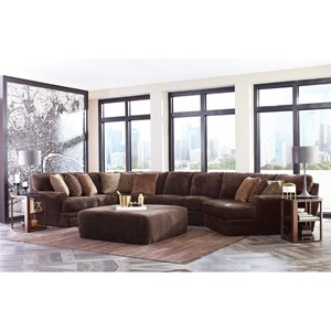 Four Piece Sectional with Piano Wedge and Track Arms