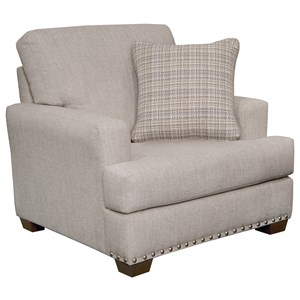 Upholstered Chair with Nailhead Trim