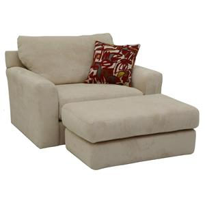 Jackson Furniture Sutton  Chair and a Half and Ottoman