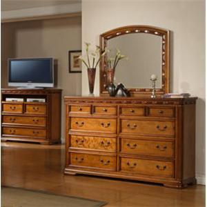 Jacob Edwards Designs 594 Dresser & Mirror