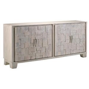 Whitewashed Cheppi Four Door Sideboard