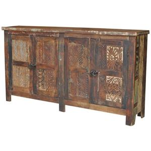 Jaipur Furniture Guru 4 Door Print Block Sideboard